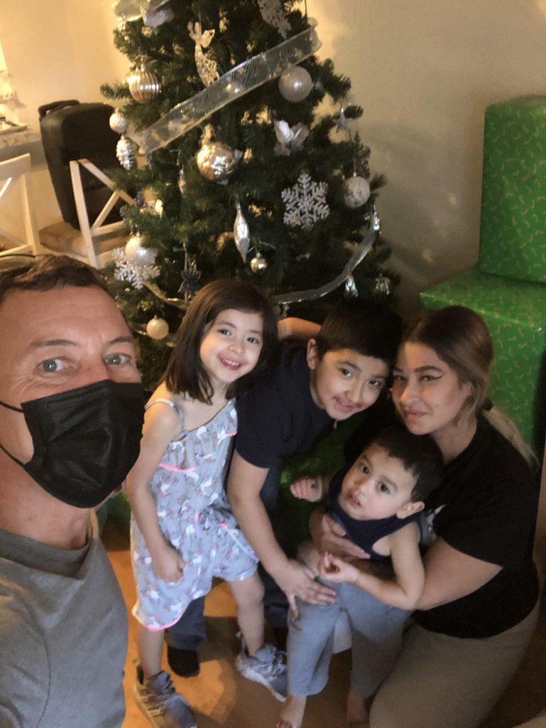 Shaun with Cruz Family